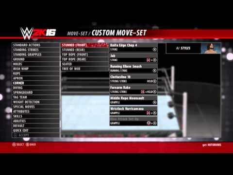 WWE 2K16 AJ Styles moveset