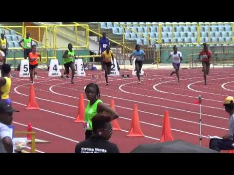 Under 14 Boys and Girls 100m Finals at Secondary Schools Zonals 2014