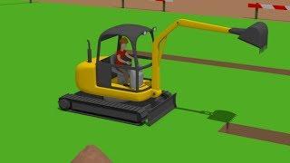 #Excavator Mini, Trucks | Street Vehicles | Construction of the airport | Maszyny drogowe Budowa