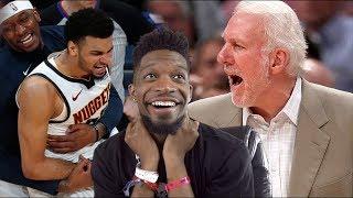 bro... LMFAO I'M NEVER TRASH TALKING AGAIN! NUGGETS vs SPURS GAME 1 & 2 NBA PLAYOFFS HIGHLIGHTS
