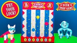 Playing the Dic Drop Game Plinko with Paw Patrol vs Zootopia Toys