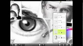 Steve Jobs Caricature on iPad 2 using Artrage!
