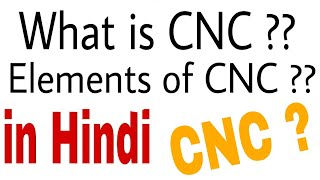 ELEMENTS OF CNC MACHINE  in hindi ! Prof. Aditya's Coaching.