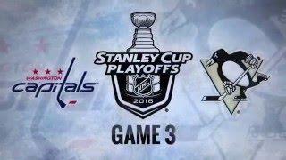 Washington Capitals vs Pittsburgh Penguins. Game #3. PlayOffs NHL 2016