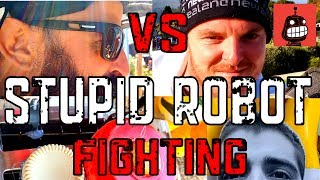 Stupid Robot Fighting League - John with Toyminator Metal Rex vs Carl with Murray test fight
