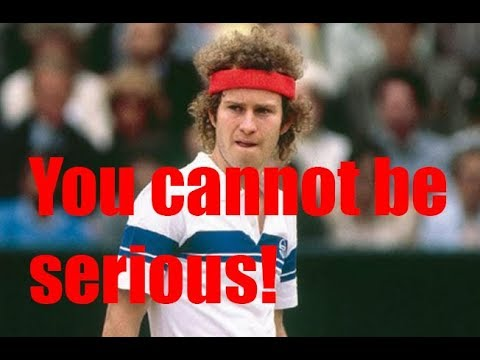 John McEnroe's angry outbursts