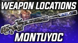 MONTUYOC WEAPONS | Ghost Recon: Wildlands Weapon Locations! (HTI, MSR, MTAR)