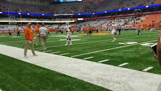 Kelly Bryant looking good in warm-ups before Syracuse, pt2