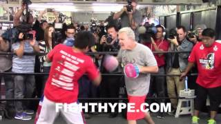 (WOW!) MANNY PACQUIAO DISPLAYS BLAZING SPEED & EXPLOSIVE POWER ON MITTS AHEAD OF THIRD BRADLEY CLASH