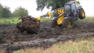 JCB's on the muck