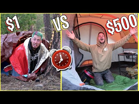 OVERNIGHT SURVIVAL CHALLENGE 1 vs 500 FORTS
