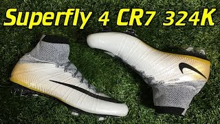 CR7 324K Gold Nike Mercurial Superfly 4 - Review + On Feet