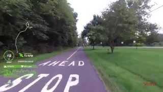 35 minute road cycling - Yellow Springs to Xenia