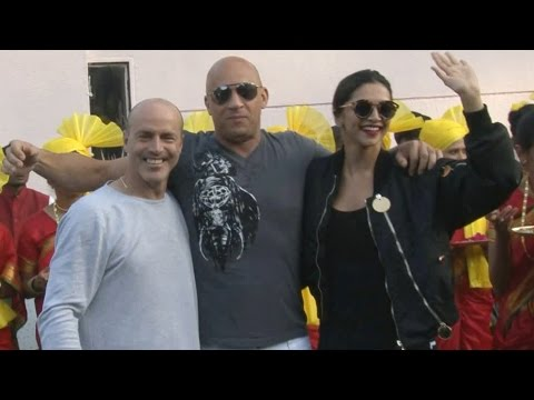 Vin Diesel arrives in Mumbai, Deepika welcomes him | FULL VIDEO