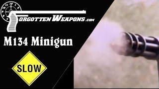 Slow Motion: M134 Minigun