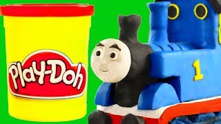 Thomas & Friends Toy Train Pretend Play for kids! Play-Doh videos for children