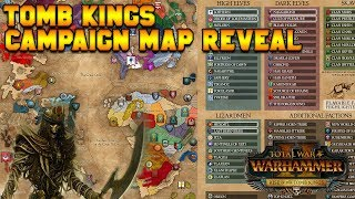 Tomb Kings Map Reveal: Starting Positions - Khalida, Settra, Arkhan, Khatep   Total War: Warhammer 2