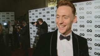 GQ Awards 2013: Tom Hiddleston talks playing Captain Hook and reveals man crush
