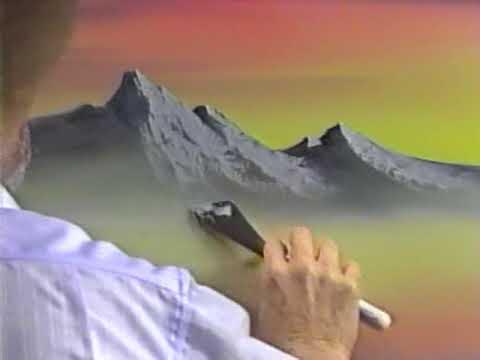 第16弾 BOB ROSS Joy of Painting ボブの絵画教室 「灰色の山並」