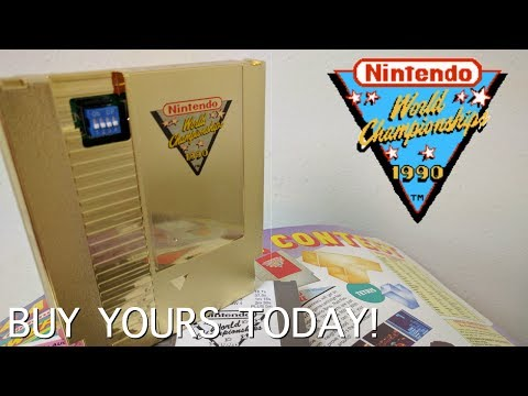 Add the GOLD NWC Cart To Your Collection! Nintendo World Championship Cart