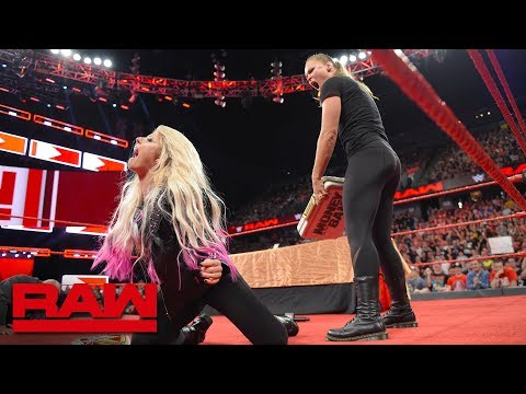 Xxx Mp4 Ronda Rousey Is Suspended After Launching An Attack Raw June 18 2018 3gp Sex