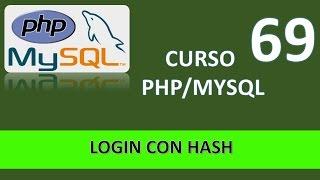Curso PHP MySql. Login con hash. Vídeo 69