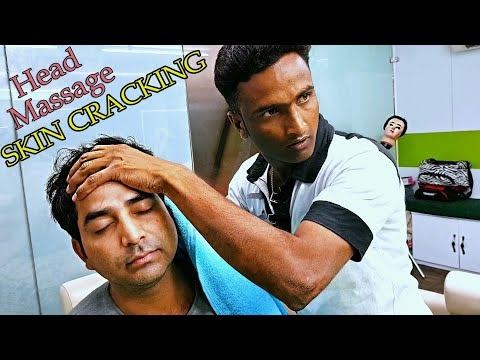 Skin Cracking Head Massage to Guru - ASMR no talking