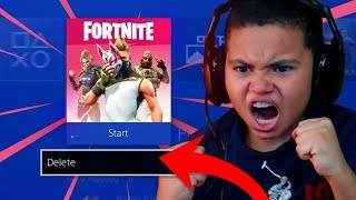 THIS MADE MY 9 YEAR OLD LITTLE BROTHER RAGE AND *DELETE* FORTNITE: BATTLE ROYALE! HE GOT SO MAD! 😂