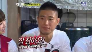 Running Man Moments. Funny Kang Gary Enduring Pain's Face HD Cut. [English Subs]