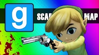 Gmod Scary Map (Not Really) Moments - Cat Jumpscare & Room of Death!