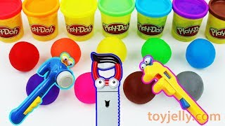 Play Doh Mickey Mouse Tools Baby Toys Learn Colors Peppa Pig Pokemon Mold Kinder Surprise Joy Eggs