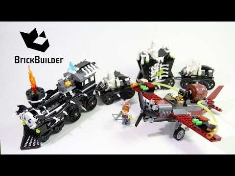 lego monster fighters 9467 the ghost train build review - Lego Halloween Train