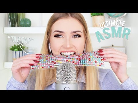 Ultimate Amateur ASMR glow sticks biting an onion & SO MUCH TAPPING