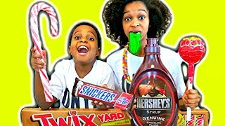 FOOD CANDY COMPILATION! w/ Giant Pizza and Gummy Food - Shiloh and Shasha Onyx Kids