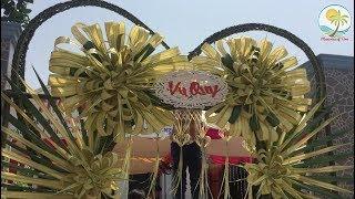 Hướng dẫn làm cổng cưới Miền Tây bằng lá dừa tại Đồng Tháp - Làm hoa hồng lớn