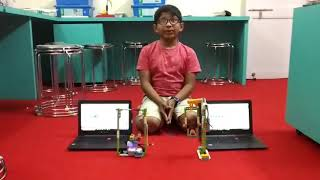 Robotics centre, A'nagar- Swing model through Wedo 2.0 by Ishaan.