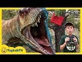 Download Video Download Dinosaurs & Park Rangers Face Off! Giant T-Rex Dinosaur Adventure & Jurassic World Surprise Toys 3GP MP4 FLV