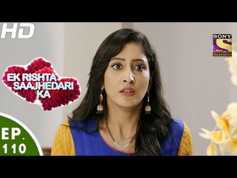 Ek Rishta Saajhedari Ka - एक रिश्ता साझेदारी का - Episode 110 - 12th January, 2017