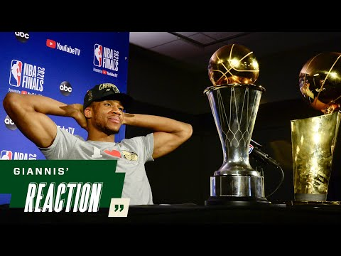 """Giannis Reaction """"I'm a FREAKING CHAMPION 7.20.21"""
