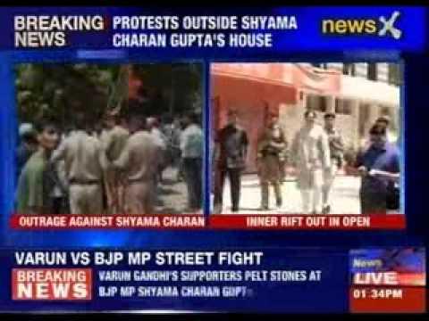 Varun Gandhi's supporters pelt stones at Allahabad BJP MP's house for criticising Maneka Gandhi