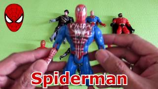 Superhero Toys Kids Unboxing Spiderman Superman Batman Ironman Avengers Videos