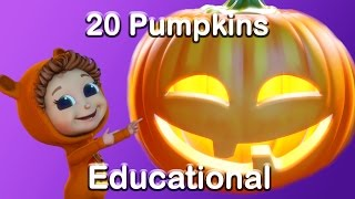 20 Pumpkins Counting Song | Halloween Song (Learn Counting) | Nursery Rhymes and Baby Songs