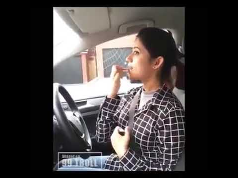 Very Cute Desi Girl Learn Car Driving
