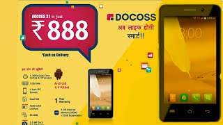 DOCOSS X1 SmartPhone Rs. 888 - REVIEW & SPECIFICCATIONS   How to Buy?