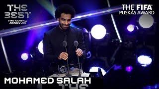 Mohamed Salah reaction - The FIFA Puskas Award Winner 2018