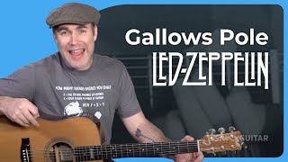 Led Zeppelin - Gallows Pole Guitar Lesson Chords Strumming Acoustic JustinGuitar Jimmy Page