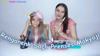 Rengarenk Saçlı Prenses Makyajı Nasıl Olmuş Sizce - Eğlenceli Çocuk Videosu - Funny Kids Videos