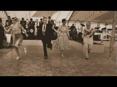 A Sepia version of Dancing to The Regular Joes Swing and Jive Band at Goodwood Revival 2012