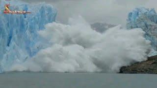 Shocking glacier calving create tsunami wave | glacier | glacier national park 2k17 | shockwave 4/4