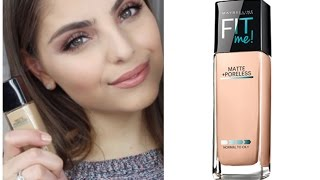 First Impressions: Maybelline Fitme Matte & Poreless Foundation